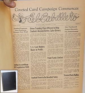 El Caballero; volume xviii, numbers 1 - 17 and volume xix numbers 1 - 17, September 1949 - June ...
