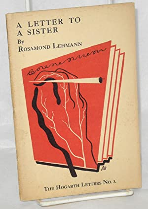 A letter to a sister: Lehmann, Rosamond