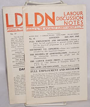 Labour Discussion Notes. Nos. 37 and 41 (Dec. 1942, Oct.-Nov. 1943)