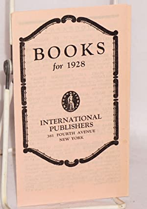 Books for 1928: International Publishers