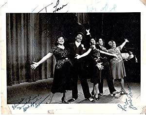 """Two 8x10 publicity photos for """"Ain't Misbehavin'"""" signed by cast members: ..."""