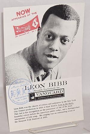 Leon Bibb records exclusively for Vanguard: Bibb, Leon]