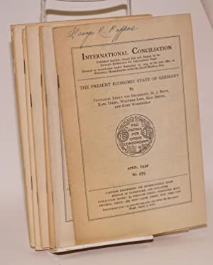 International Conciliation Published monthly. [between-war issues, ten unduplicated numbers]: ...