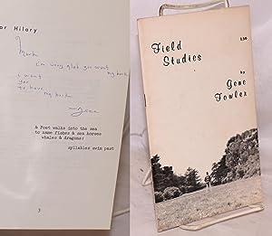 Field studies: Fowler, Gene, drawings
