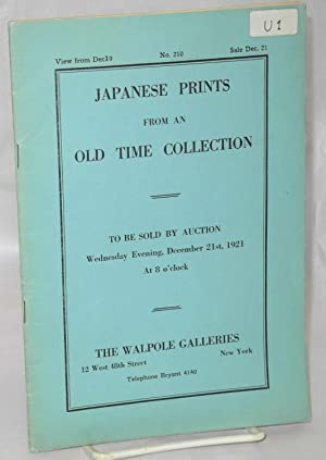 Japanese Prints from an Old Time Collection