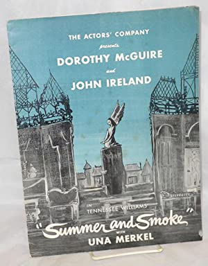 Summer and smoke souvenir program: Williams, Tennessee, Dorothy McGuire, John Ireland, Una Merkel, ...