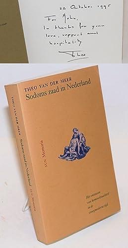 Sodoms zaad in Nederland; het onstaan van homoseksualiteit in de vroegmoderne tijd: van der Meer, ...