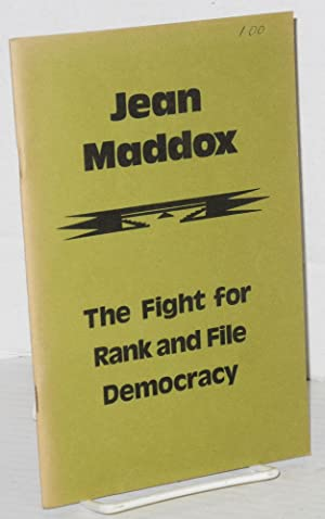 Jean Maddox; the fight for rank and: Maddox, Jean, Joyce