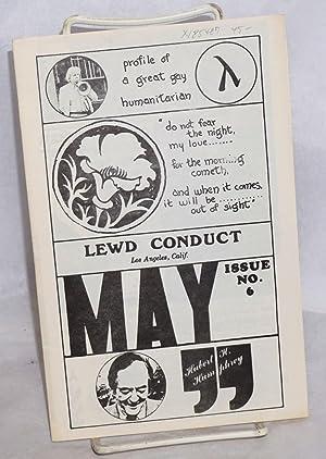 Lewd conduct: issue #6, May 1972: Ellingworth-Wilson, Lee, editor