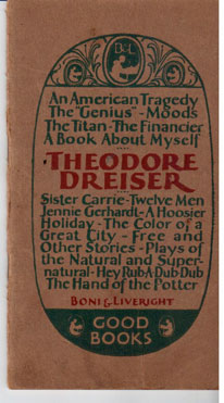 A book about Theodore Dreiser and his work: Dreiser, Theodore], Sherwood Anderson, Edgar Lee ...