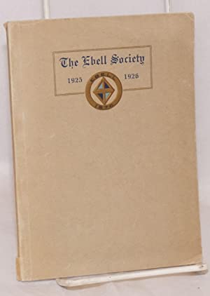 The Ebell Society Year Book 1925-1926: Ebell, Oakland California
