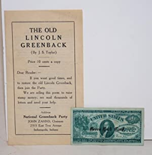 The Old Lincoln Greenback: Taylor, J.S.