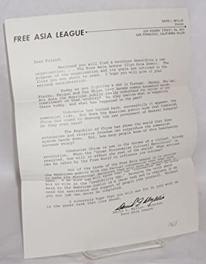 An invitation to join the Free Asia League.: Free Asia League