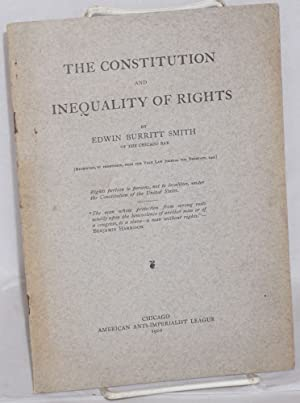 The Constitution and inequality of rights: Smith, Edwin Burritt