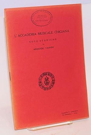 L'Accademia musicale Chigiana; note storiche: Vannini, Armando