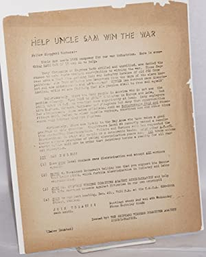 Help Uncle Sam win the war: Shipyard Workers Committee against Discrimination
