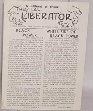 The ISU Liberator: a journal of opinion. Vol. V no. 3 (December 5, 1966)