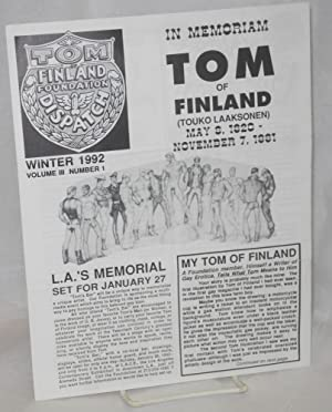 Tom of Finland dispatch: vol. 3, number: Tom of Finland