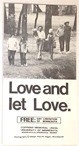 Love and let love [brochure]: FREE: Gay Liberation of Minnesota