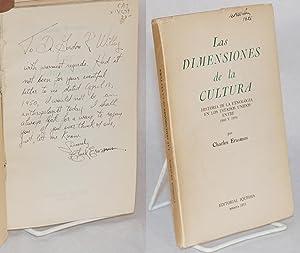 Las dimensiones de la cultura: Historia de La Etnologia en Los Estados Unidos entre 1900 y 1950: ...