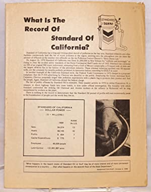 What is the record of Standard of California