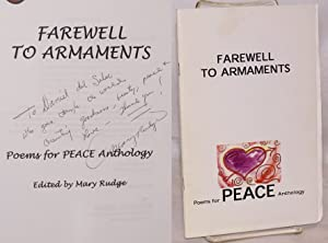Farewell to armaments: poems for peace anthology: Rudge, Mary, editor, Nina Serrano, Ken Peterson, ...
