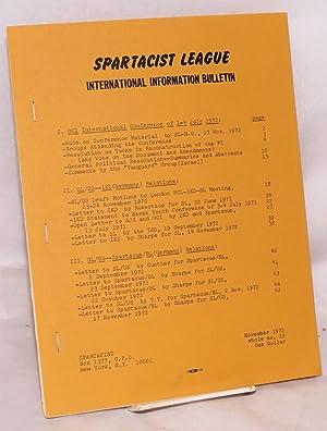 Spartacist League International Information Bulletin. No. 19