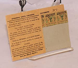 "Mileage Ration --Identification Folder ""T"" Coupons [enclosed]: Office of Price ..."