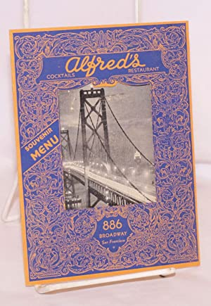 Alfred's, famous for good food since 1929. Souvenir Menu