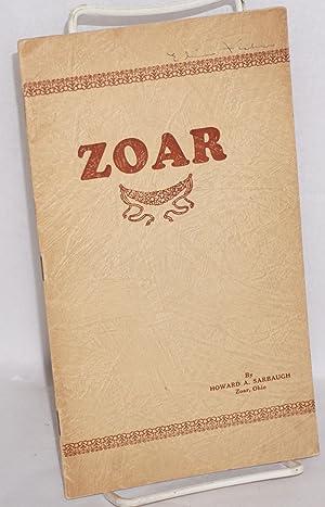 A brief history of Zoar: Sarbaugh, Howard A.