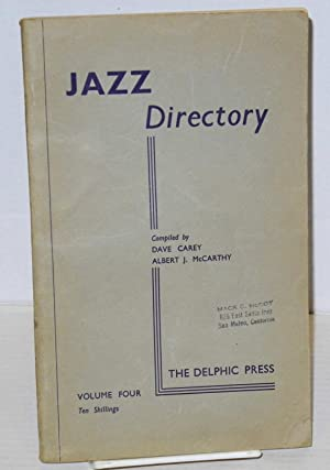 The directory; of recorded jazz and swing: Carey, Dave and