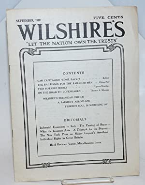 Wilshire's, vol. 14, no. 9, September, 1910