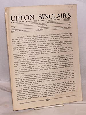 an analysis of socialism as an ideology by upton sinclair Columbia university history professor eric foner examines the rise of socialism  in america in the early 20th century.