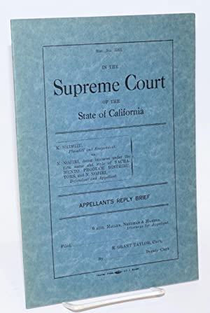 In the Supreme Court of the State of California. K. Shimizu, plaintiff and respondent, vs. N. ...