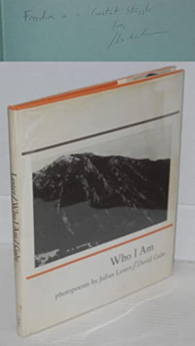 Who I am; poems, photographs by David Gahr