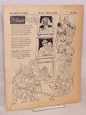 The realist [no.64]; the magazine of ka-ka; February, 1966: Krassner, Paul, editor