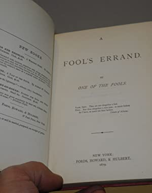 A fool's errand. By one of the fools: Tourgee, Albion