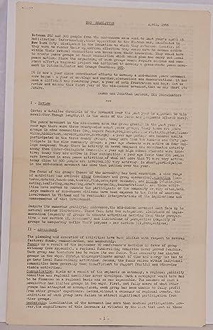 DUO Newsletter. April, 1968: Garlock, Susan and Jonathan