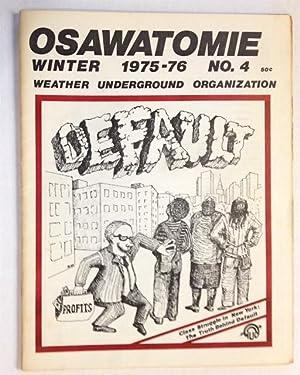 Osawatomie, vol. 1, no. 4, Winter 1975-76: Weather Underground Organization