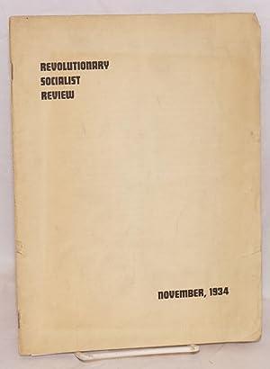 Revolutionary socialist review, a quarterly devoted to Marxian socialism. Vol., 1, no. 1, November ...