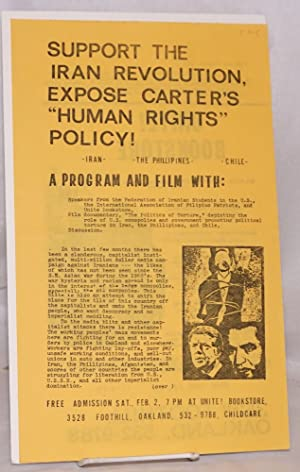 Support the Iran revolution, expose Carter's