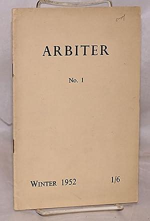 Arbiter: no. 1, Winter 1952: Bull, George, Peter Mansell-Moullin, Sebastian Kerr, Jeremy Mitchell, ...