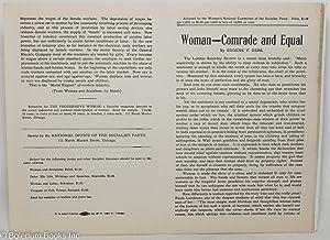Woman -- comrade and equal: Debs, Eugene Victor