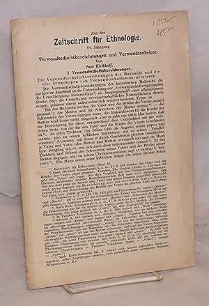 Verwandtschaftsbezeichnungen und verwandtenheirat; Extract from Zeitschrift f?r ethnologie, v. 46: ...