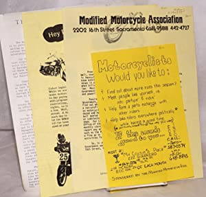 Modified Motorcycle Association [packet of 4 handbills]