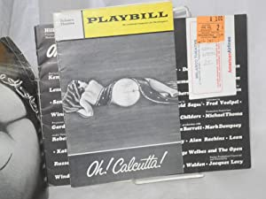 Oh! Calcutta! souvenir program and playbill, two items with ticket stub