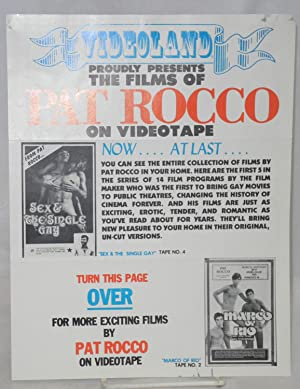 Videoland proudly presents the films of Pat Rocco on videotape: brochure/handbill
