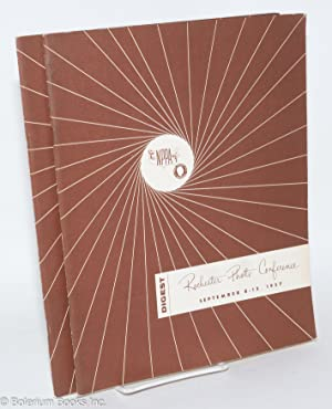 Rochester photo conference,; digest; George Eastman house [also as] National press photographer&#39...