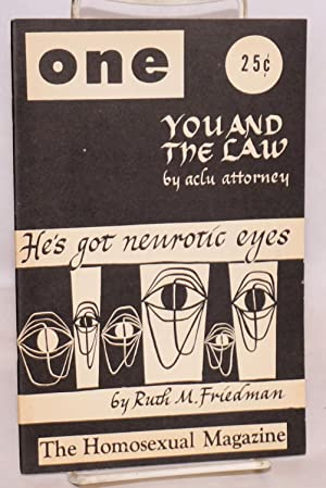 One; the homosexual magazine volume five, number 4, April 1957: Reid, Ann Carll, Lyn Pedersen, ...