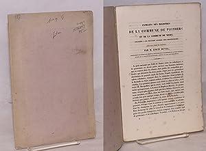 Extraits des registres de la commune de Poitiers et de commune de Niort relatifs a la seconde ...